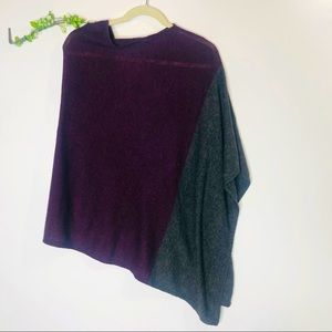 Celeste Wool Cashmere Purple Gray Poncho